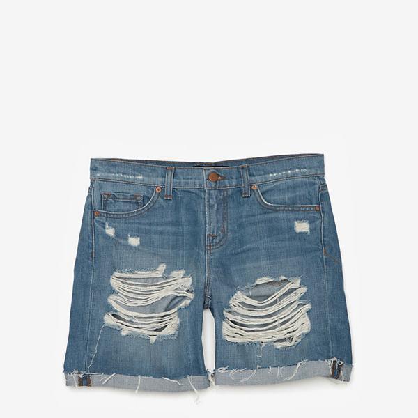 J Brand  Slouchy Boyfriend Shredded Short