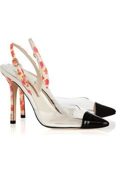 Sophia Webster Sophia Webster Daria Leather and PVC Slingback Heels
