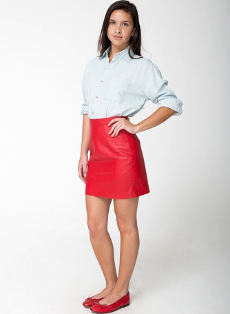 American Apparel The Leather Mini Skirt