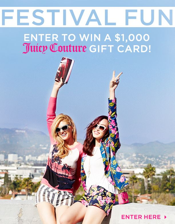 Stock Your Music Festival Wardrobe By Entering To Win A $1000 Juicy Couture Gift Card