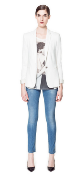 Zara Single Button Blazer