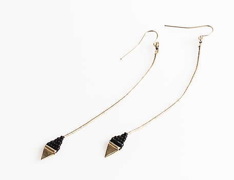Iwona Ludyga  Tribe Long Leaf Earrings