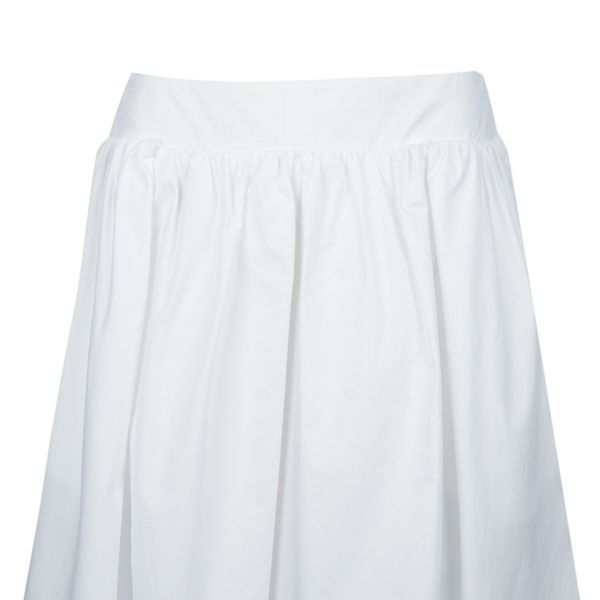 Carven  Pleated Cotton Skirt