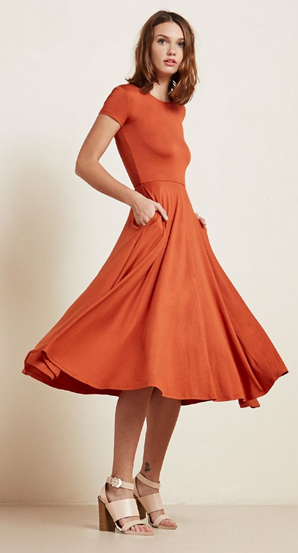 The Reformation Caribou Dress in Mars