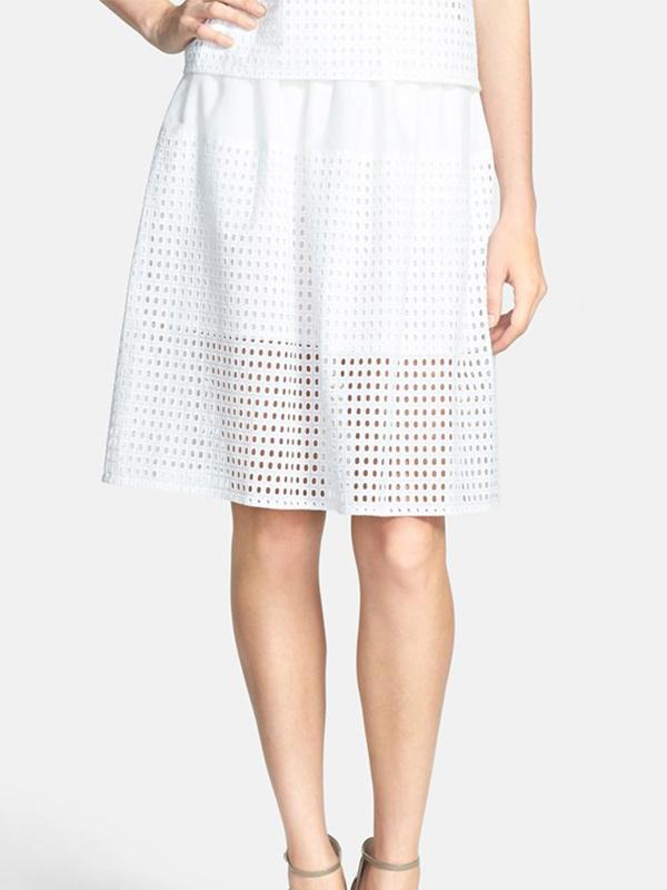 Chelsea28 Eyelet Cotton Full Skirt