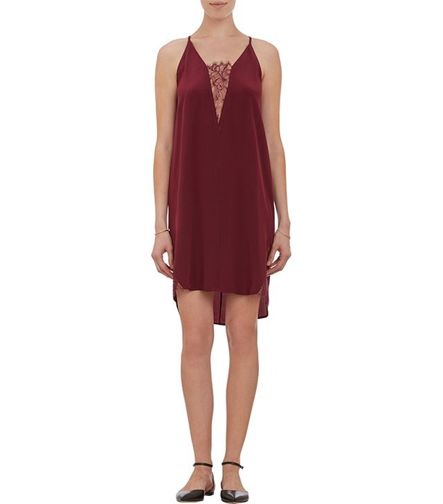 Mason by Michelle Mason Lace-Inset Slip Dress