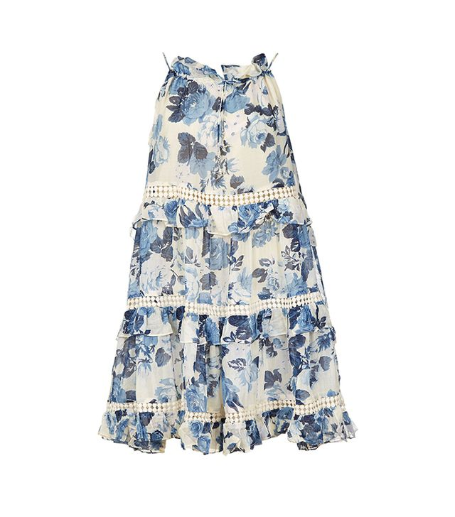 Zimmermann Floral Cupcake Halter Dress