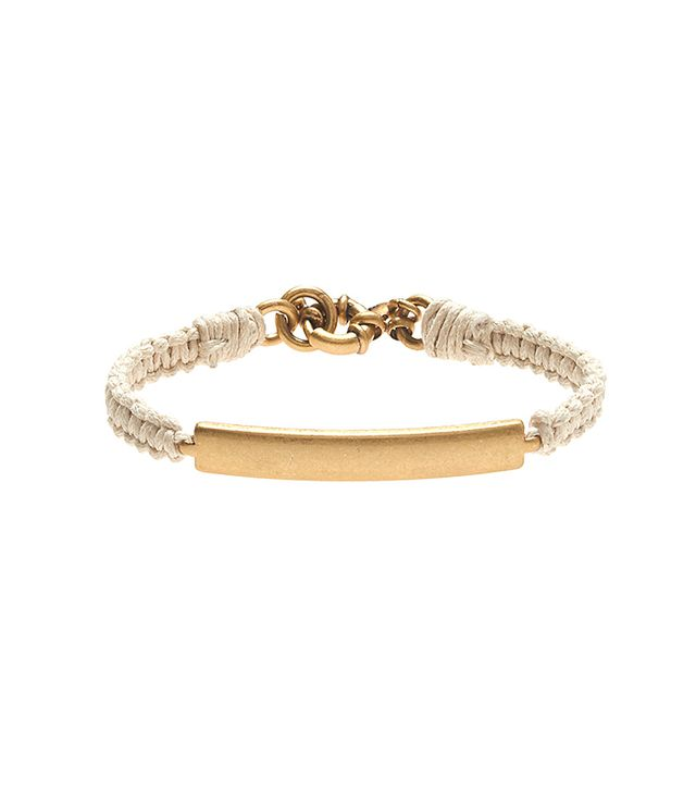 J. Crew Golden Plate Friendship Bracelet