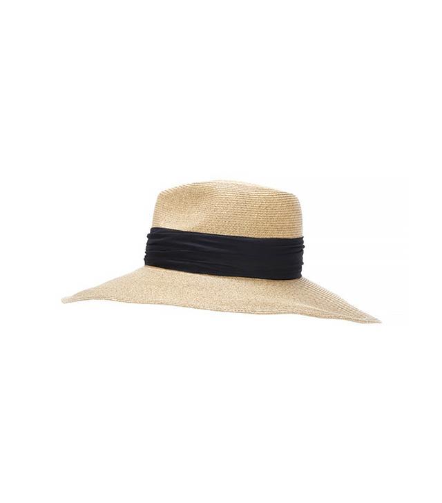 Eugenia Kim Cassidy Ribbon Trim Wide Brim Hat