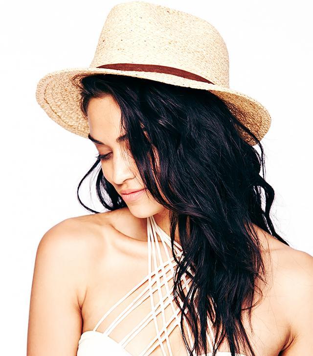 Free People Straw Weave Raffia Panama Hat
