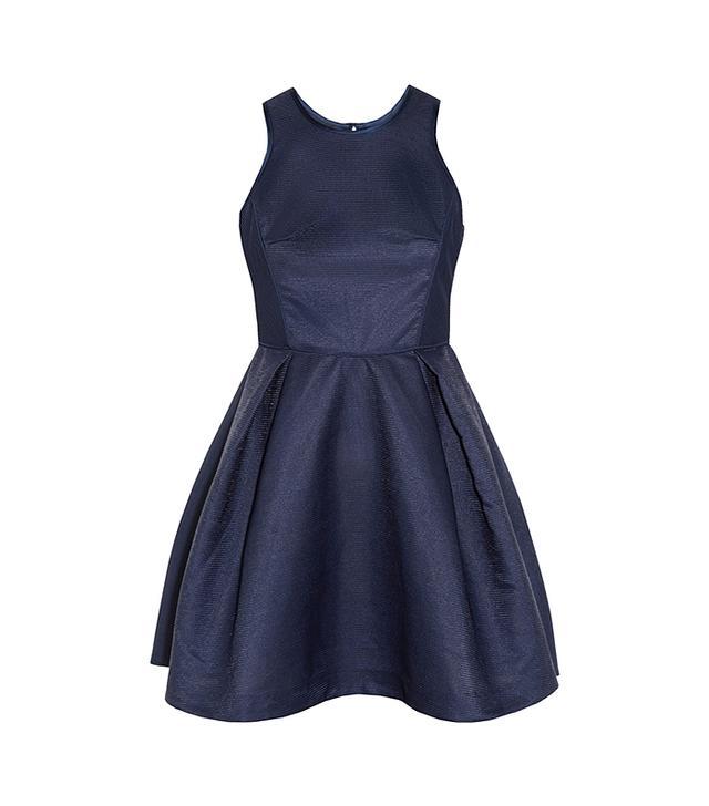Maje Ribbed Jacquard Dress