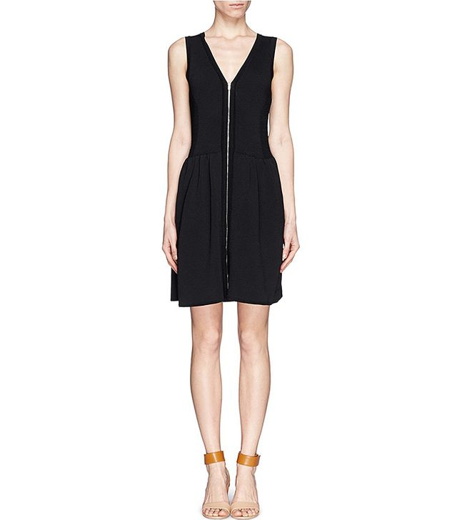Sandro ZIp-Front Knit Dress