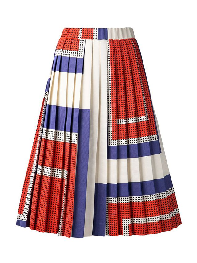 Suno Pleated A-Line Skirt