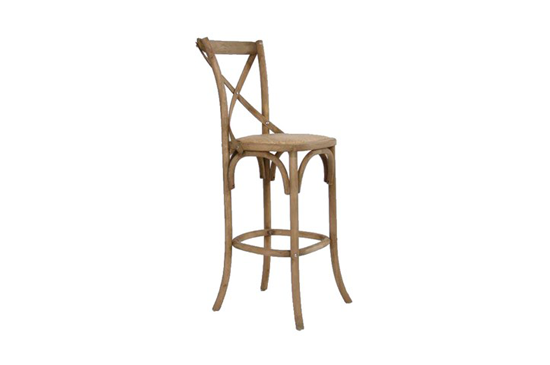 Zentique Natural Oak Cafe Bar Stool
