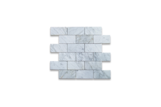 Stone Center White Polished Carrara Subway Tile