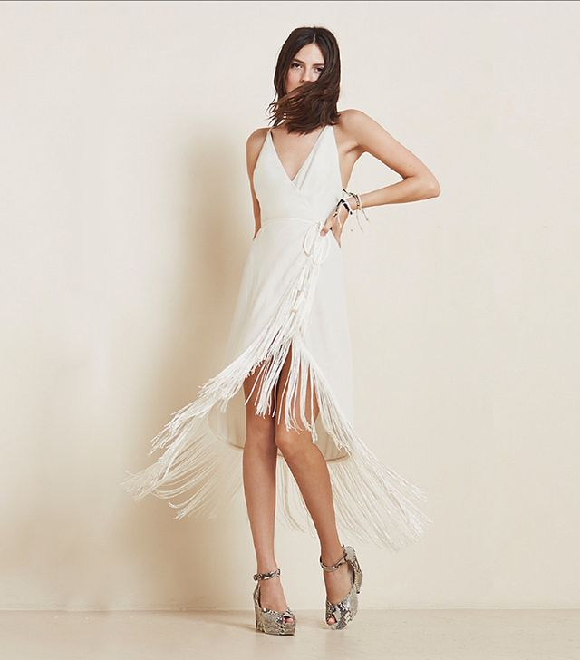 The Reformation Henna Dress in White