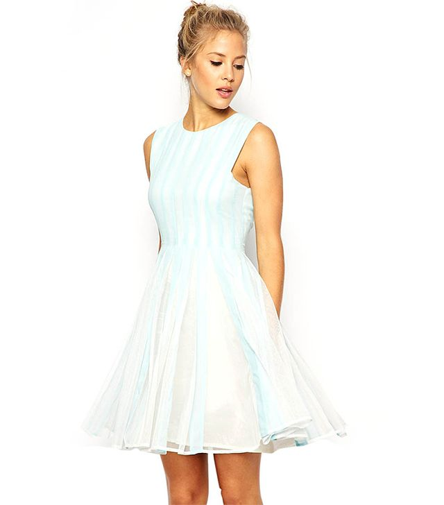 ASOS Mesh Insert Fit and Flare Dress
