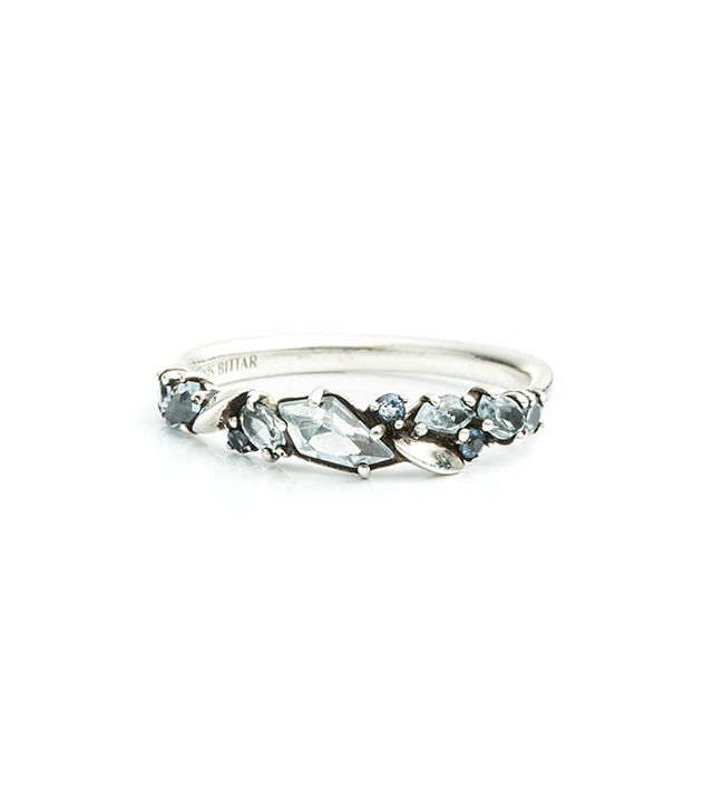 Alexis Bittar Cool Heather Marquis Small Cluster Band Ring