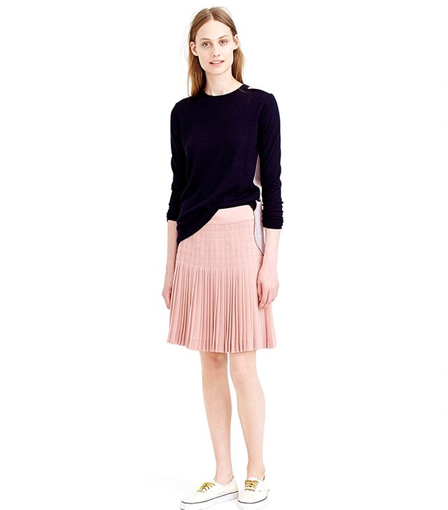 J.Crew Pleated Lattice Skirt