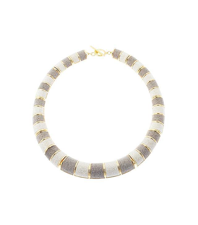 A.B.S. By Allen Schwartz Metallic Choker Necklace