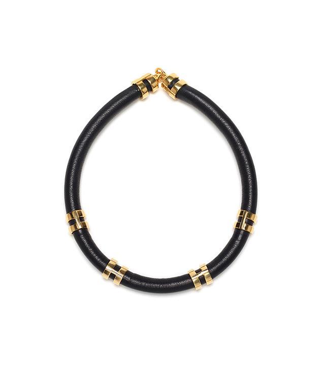 Lizzie Fortunato Double-Take Necklace In Black