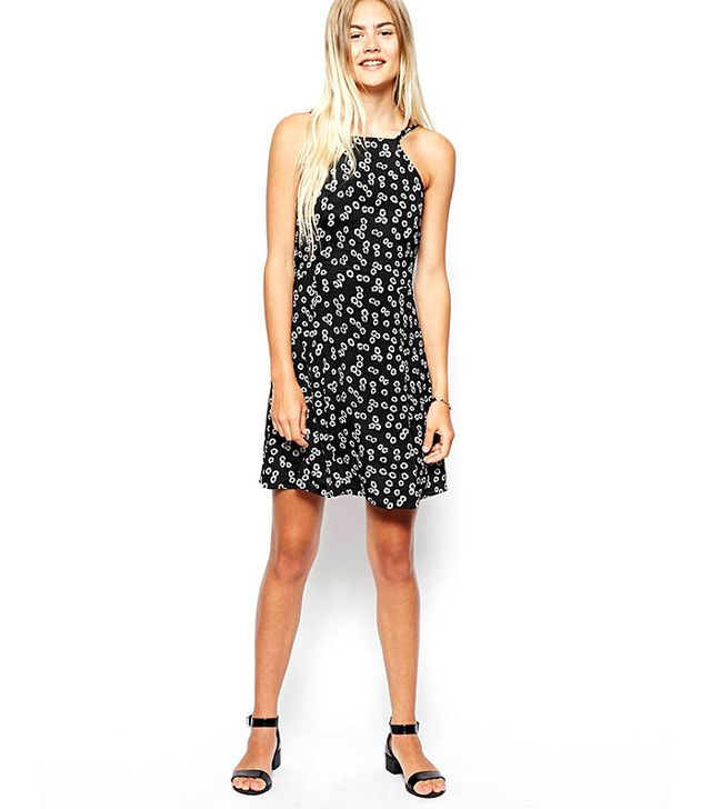 ASOS Sundress With High Neck in Daisy Print