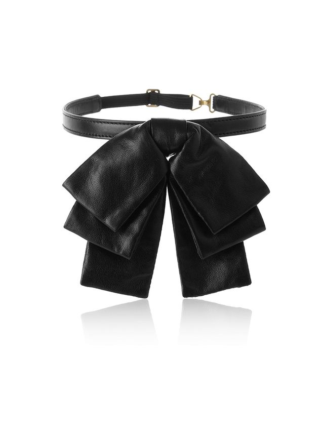 Saint Laurent Bow Leather Collar