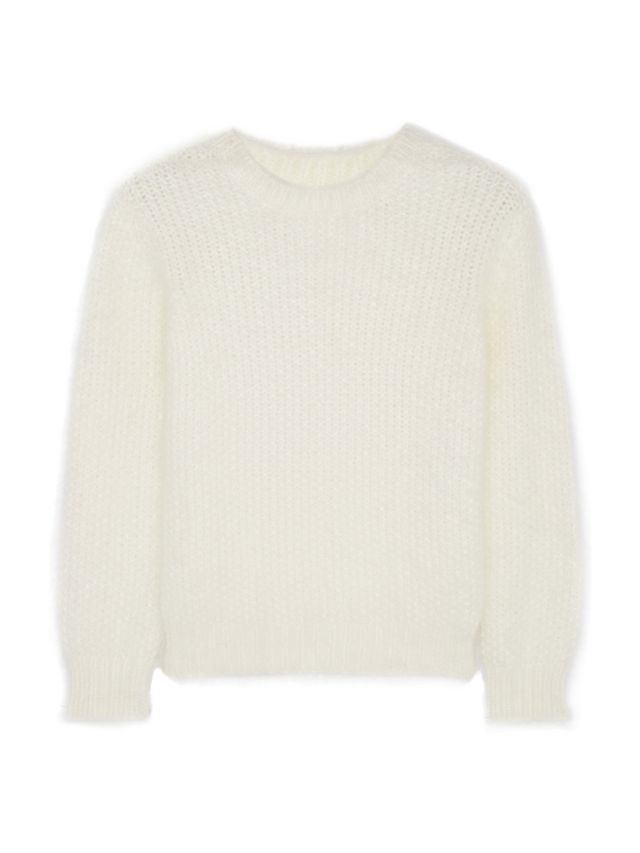 Saint Laurent Scoop-Back Angora-Blend Sweater