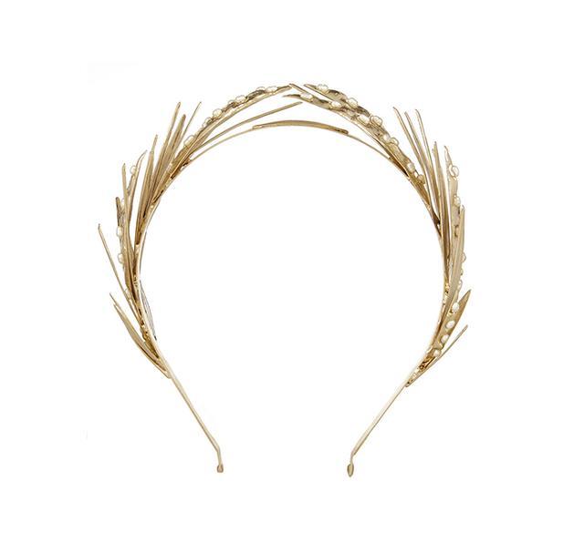 Rosantica Apache Gold-Dipped Pearl Headband