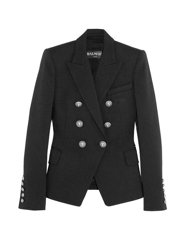 Balmain Double-Breasted Piqué Blazer