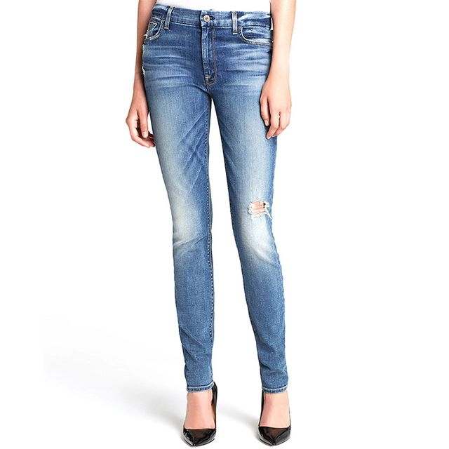 7 For All Mankind High-Waist Skinny