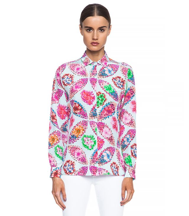 MSGM Floral Silk Blouse
