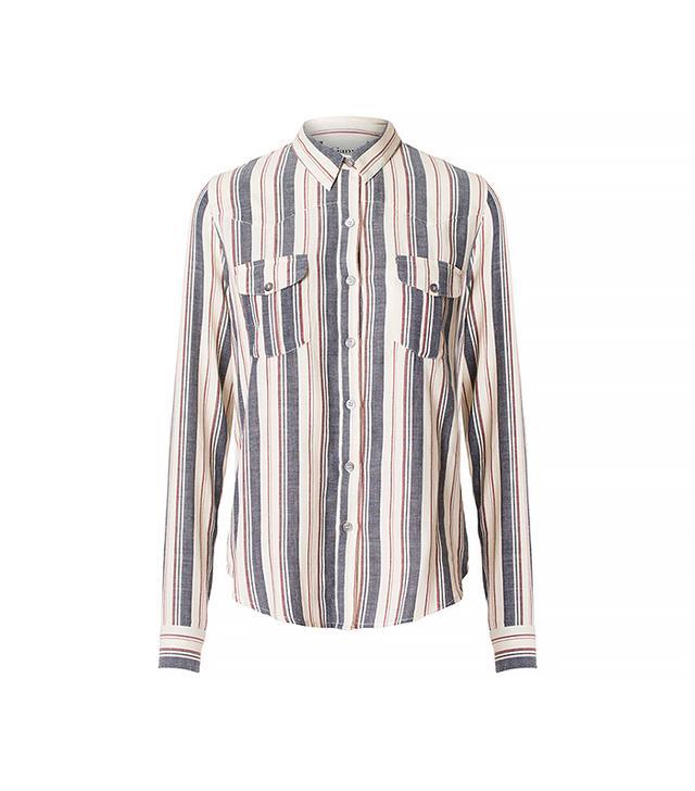 Ganni Baikal Stripe Shirt