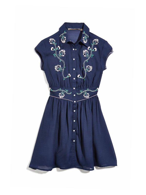 Guess Embroidered Shirtdress