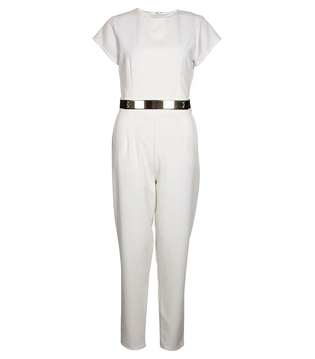 Boohoo Sofia Short Sleeved Woven Belted Jumpsuit