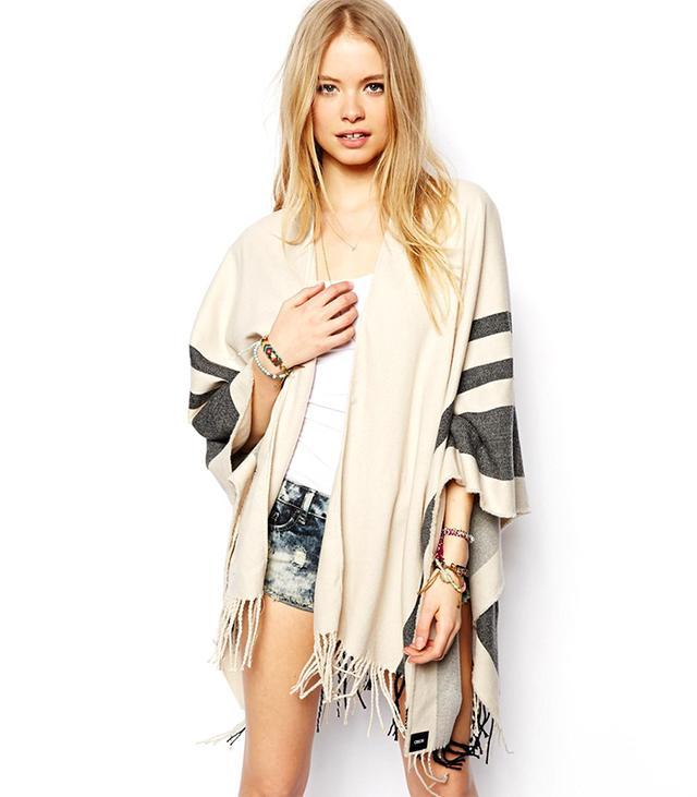 ASOS Stripe Blanket Cape