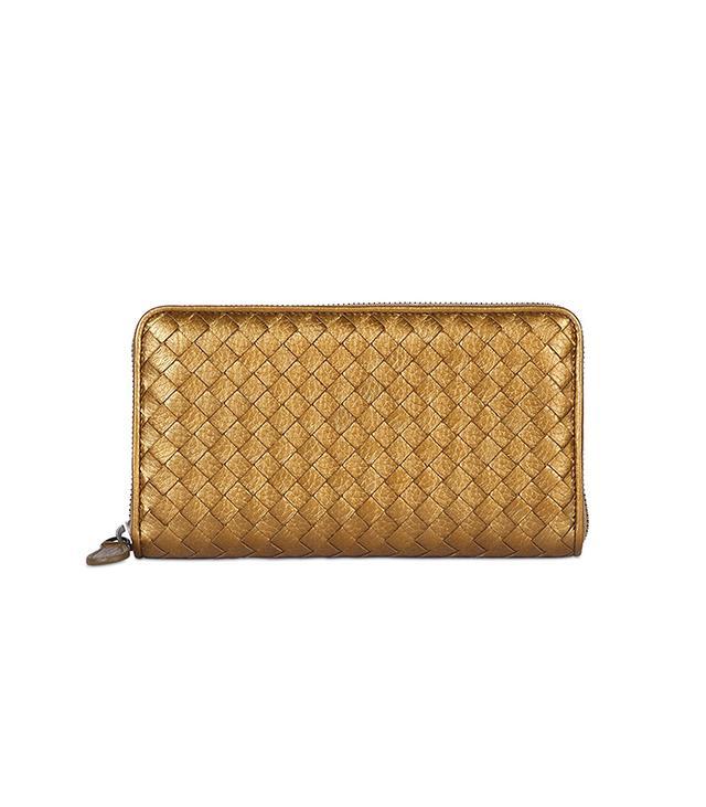 Bottega Veneta Woven Metallic Wallet