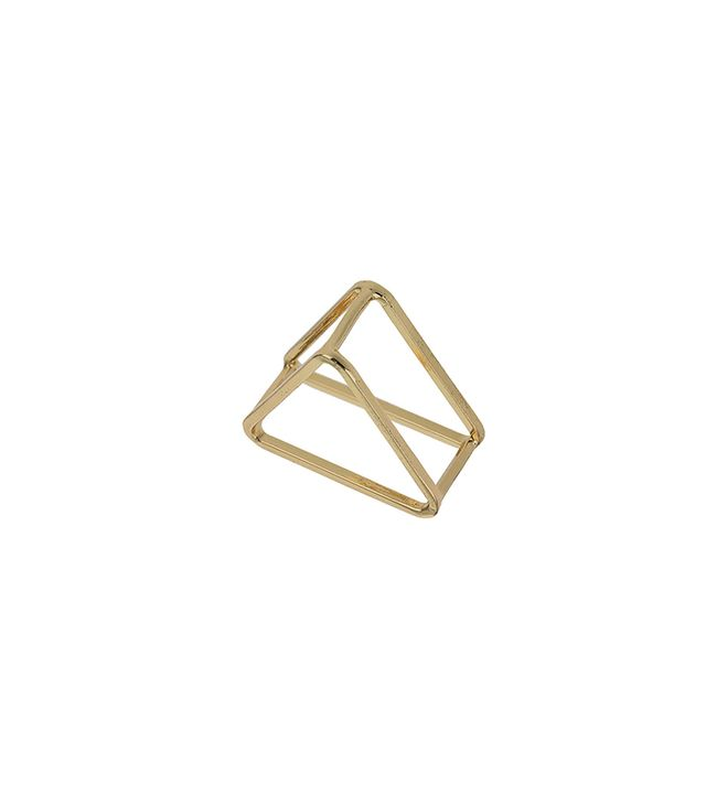 Topshop Cut-Out Triangle Ring