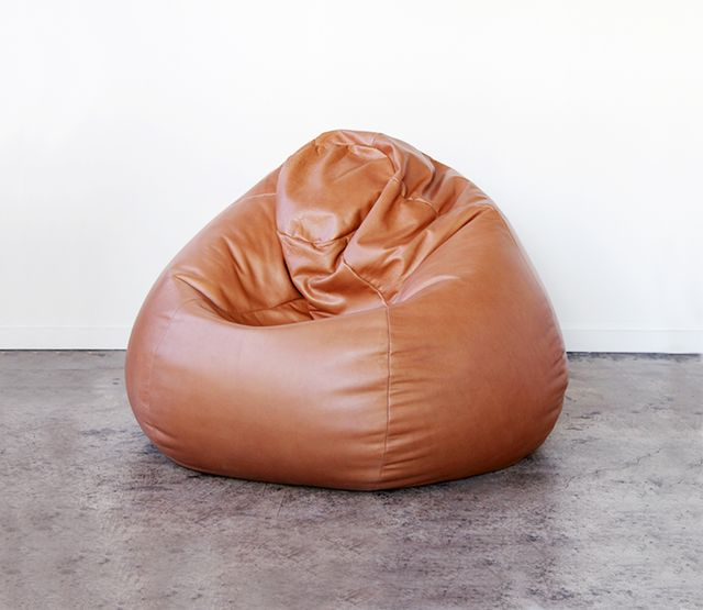 Ouli Ouli Leather Beanbag, Cognac
