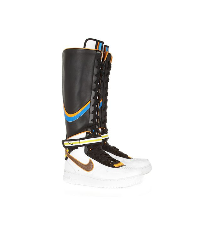 Nike + Riccardo Tisci Air Force 1 Leather Hi-Top Sneakers