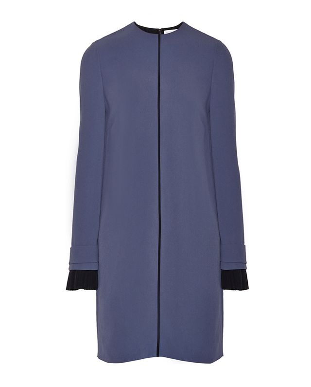 Victoria, Victoria Beckham Two-Tone Crepe Shift Dress