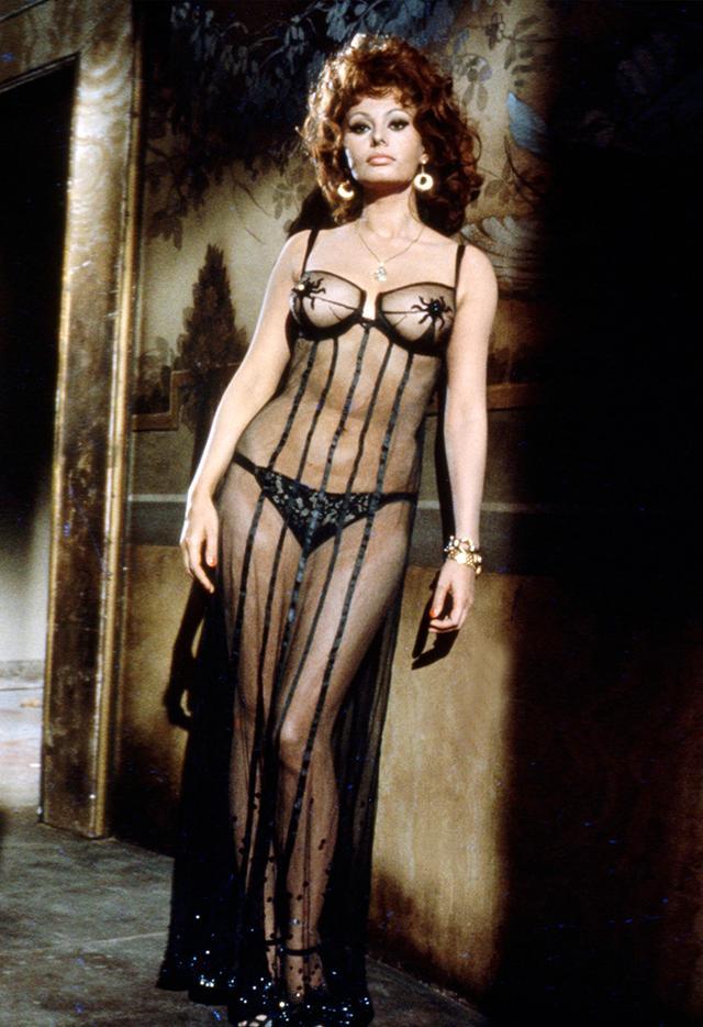 Who: Sophia Loren When: 1955 Where: On set for Marriage Italian Style.