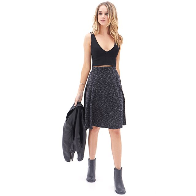 Forever 21 Marled Knit A-Line Skirt