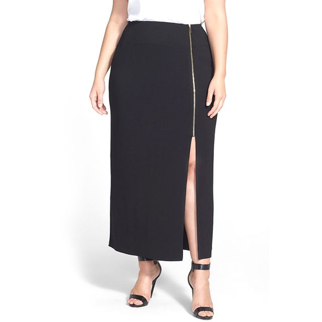 Vince Camuto Zip Front Maxi Skirt