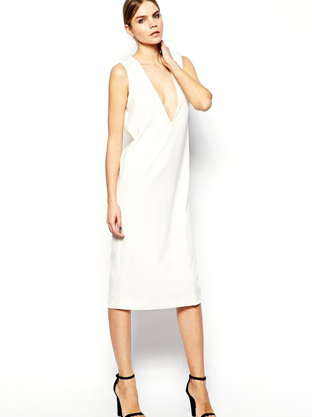 Solace London Plunge Neck Shift Dress