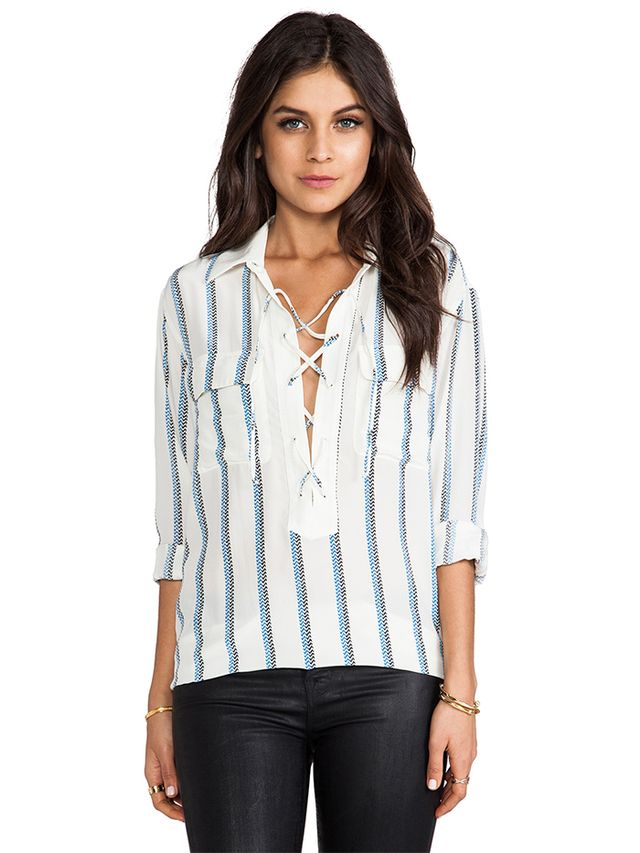 Equipment Knox Experimental Stripe Blouse