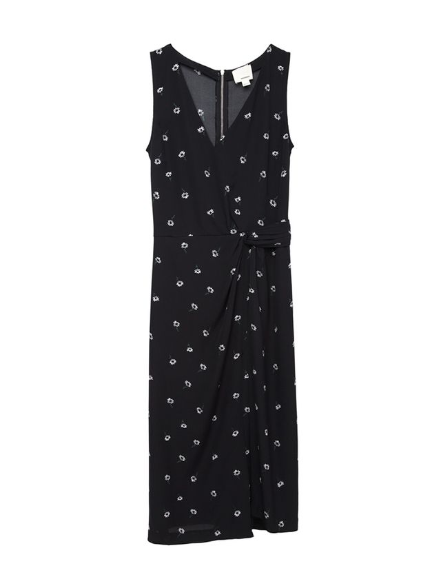 Band of Outsiders Daisy Embroidered Wrap Dress