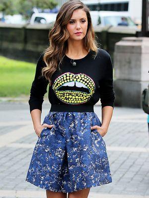 Nina Dobrev's Latest Outfit Is Lip-Smacking Good
