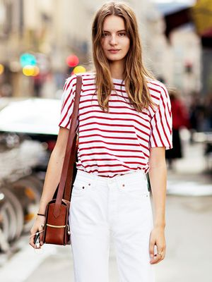 Tip Of The Day: A Parisian-Inspired Way To Wear White Jeans