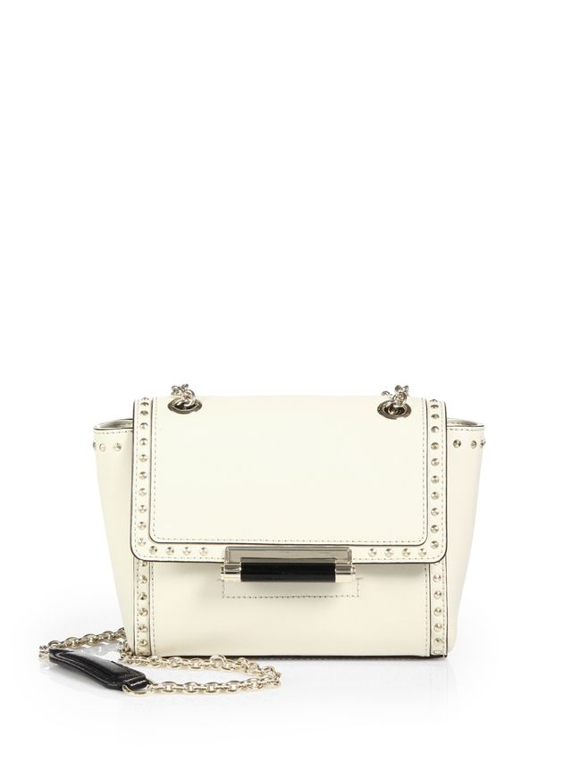 Diane Von Furstenberg Studded Leather Crossbody Bag